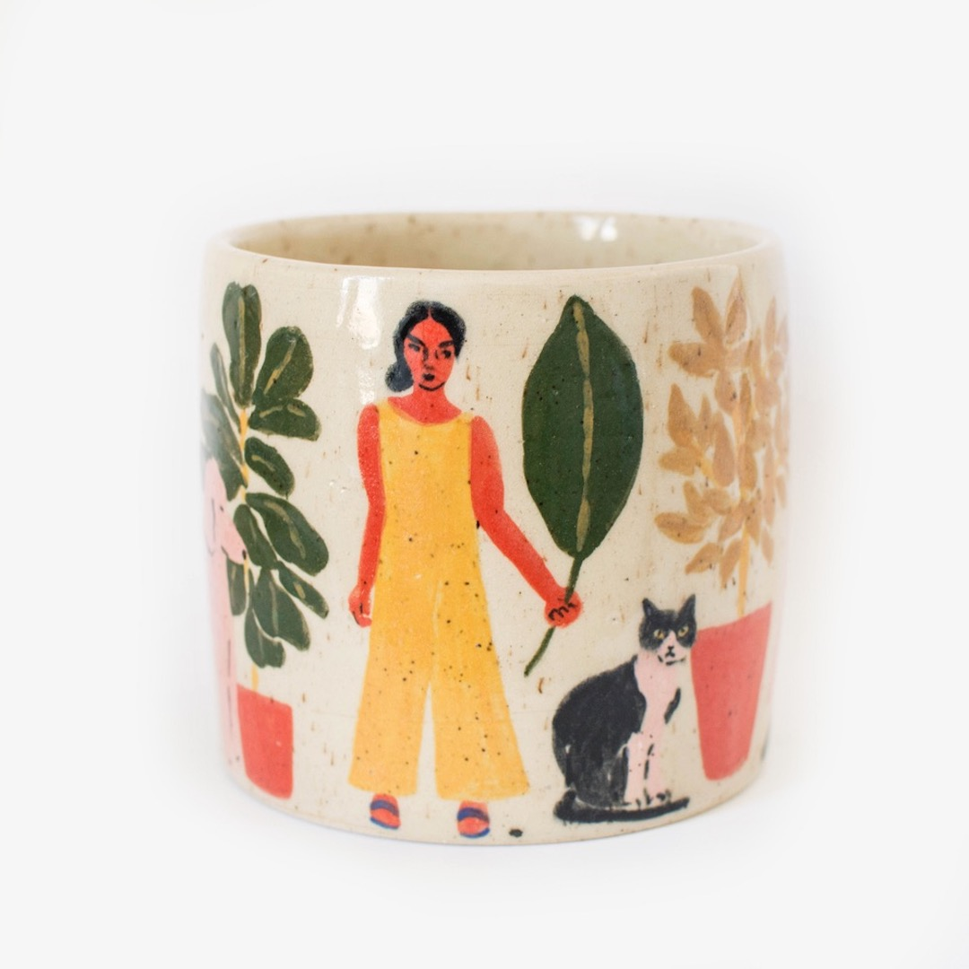 hand painted ceramics by Leah Goren