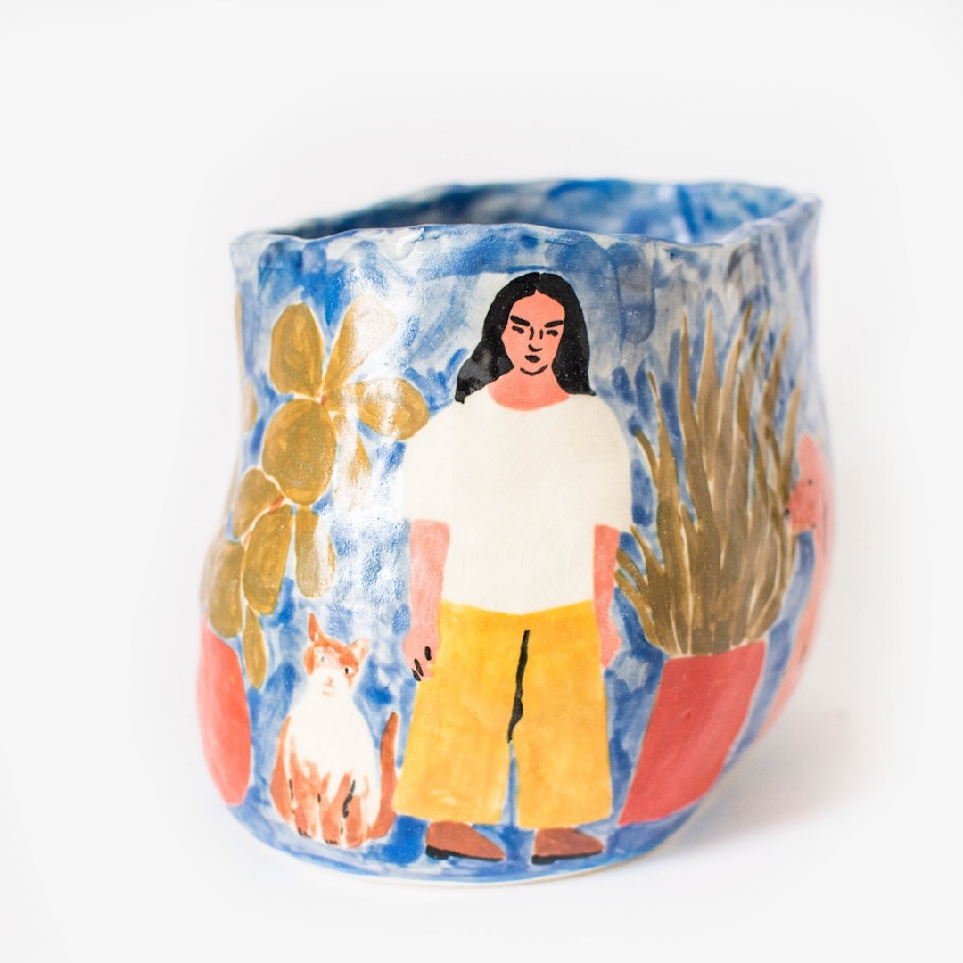 illustrated ceramic by Leah Goren