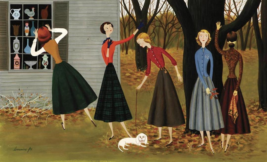 Illustration of women by Lorraine Fox