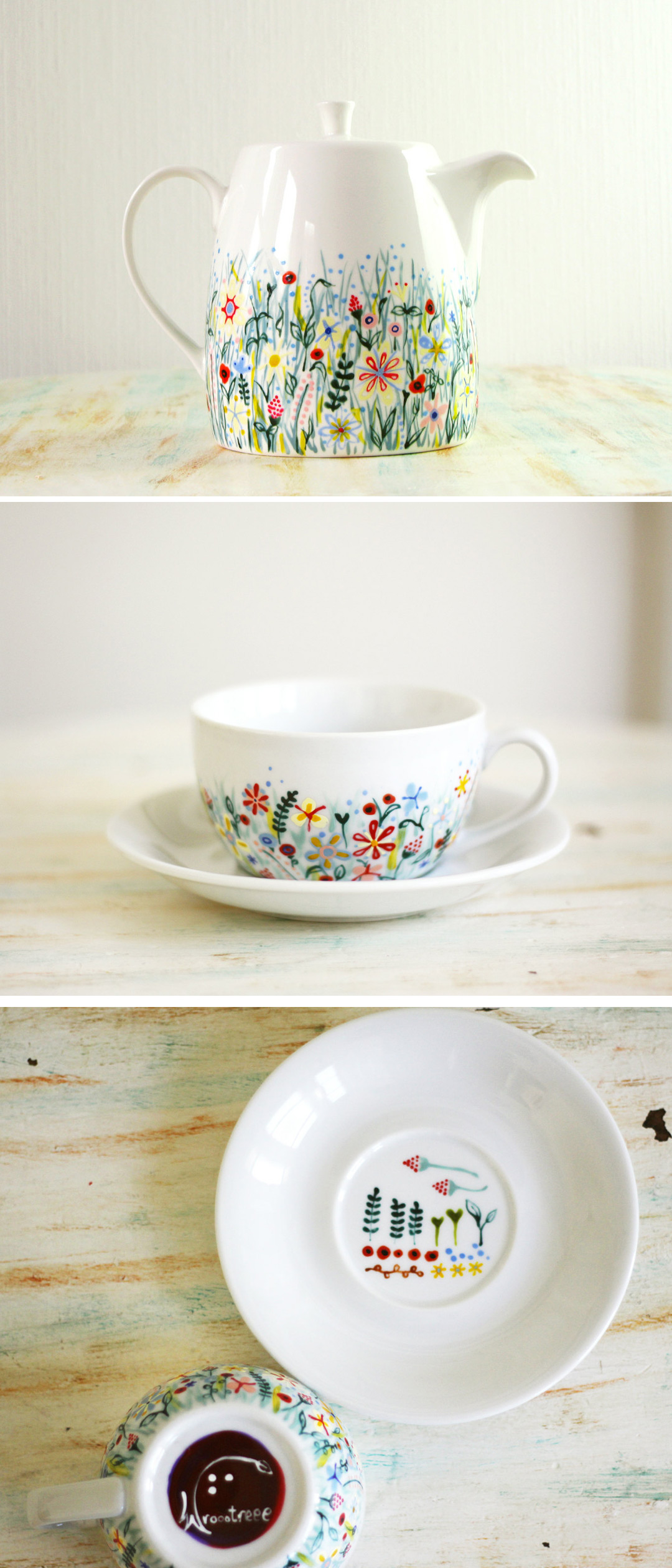 Hand Painted Ceramic Pots