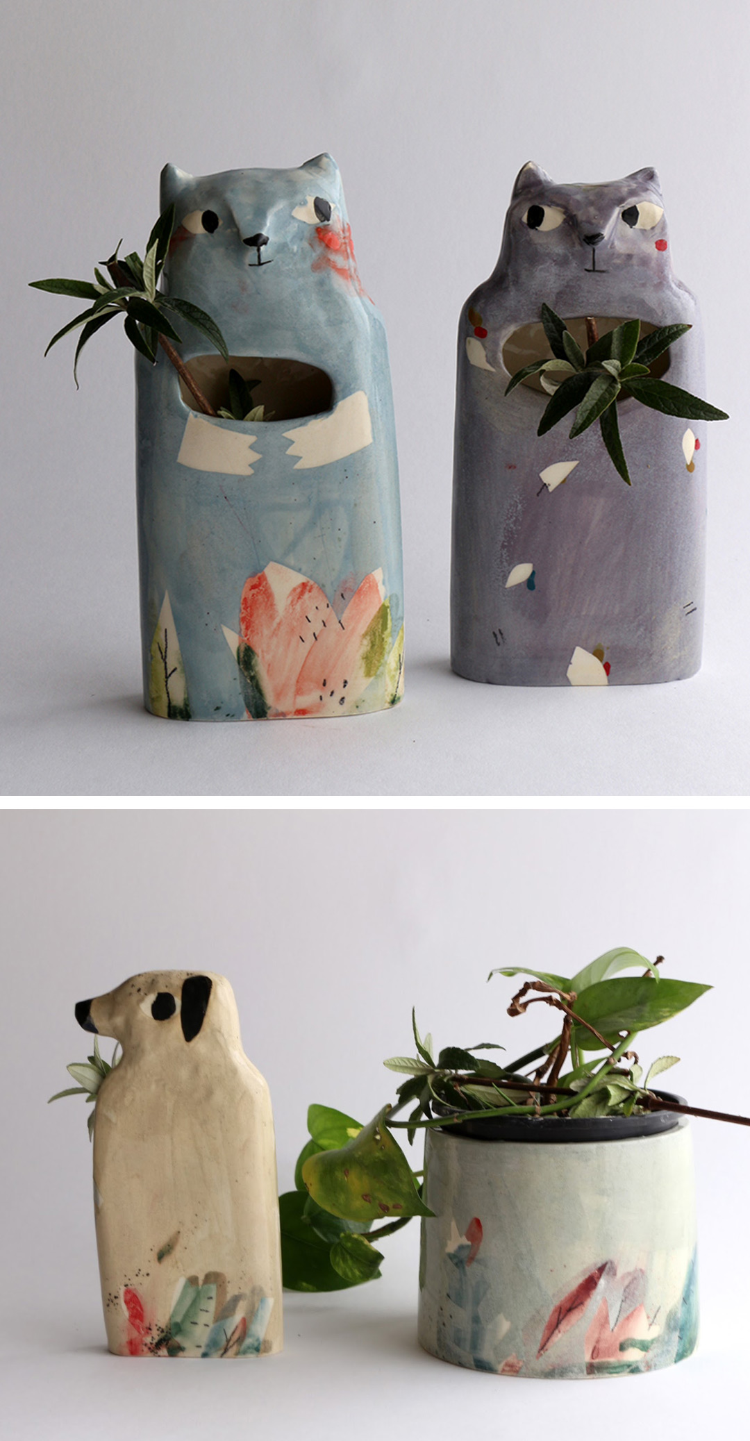 Painted ceramics by Elise Lefebvre
