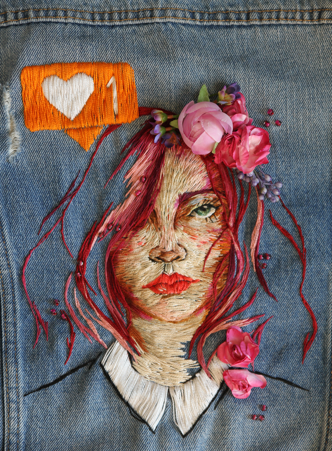 Denim Jacket Embroidery by Ezgi Pamir