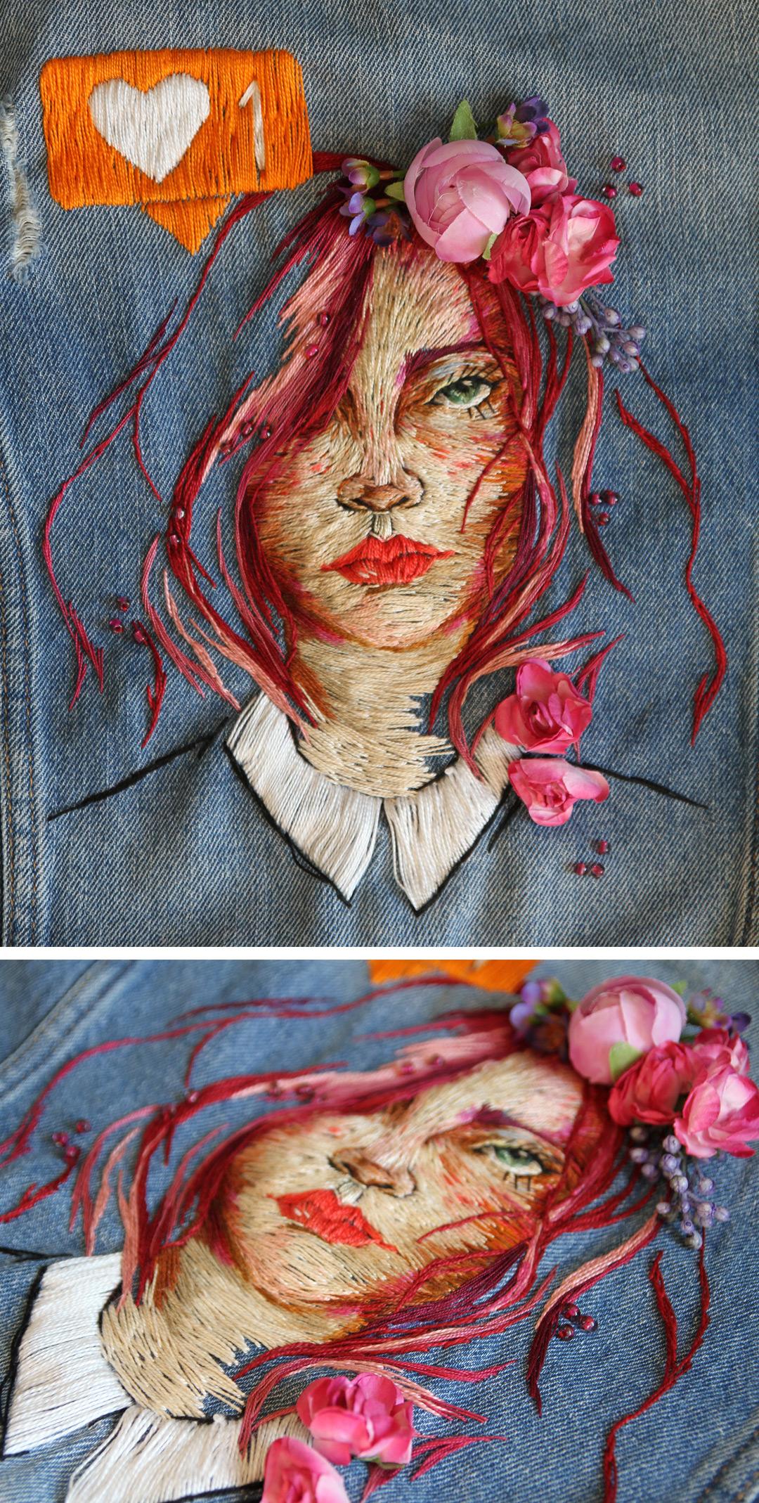 Denim Jacket Embroidery by Ezgi Pamir