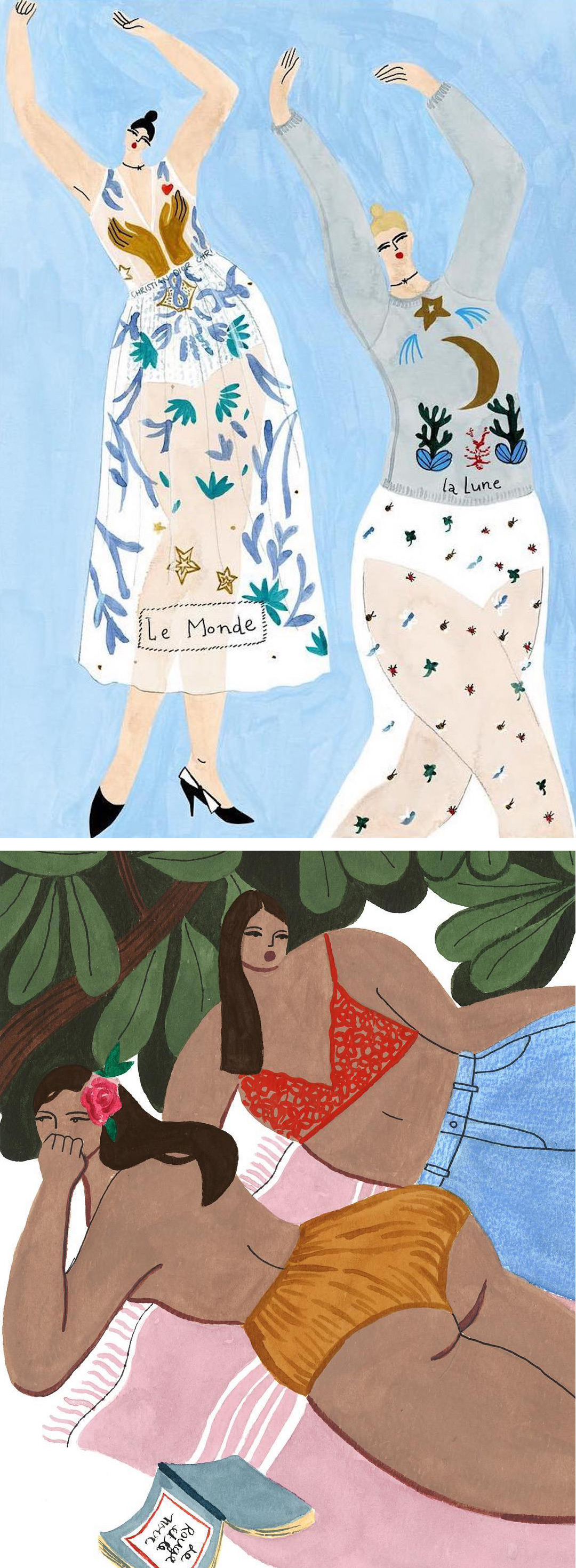 Isabelle Feliu fashion illustrations