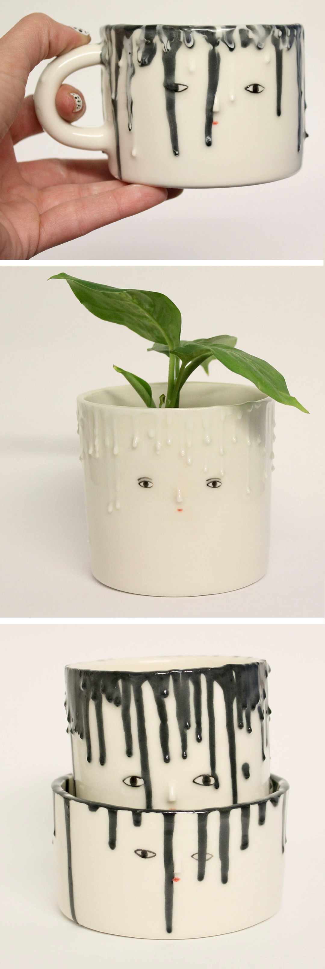 Drip planter by Kinska