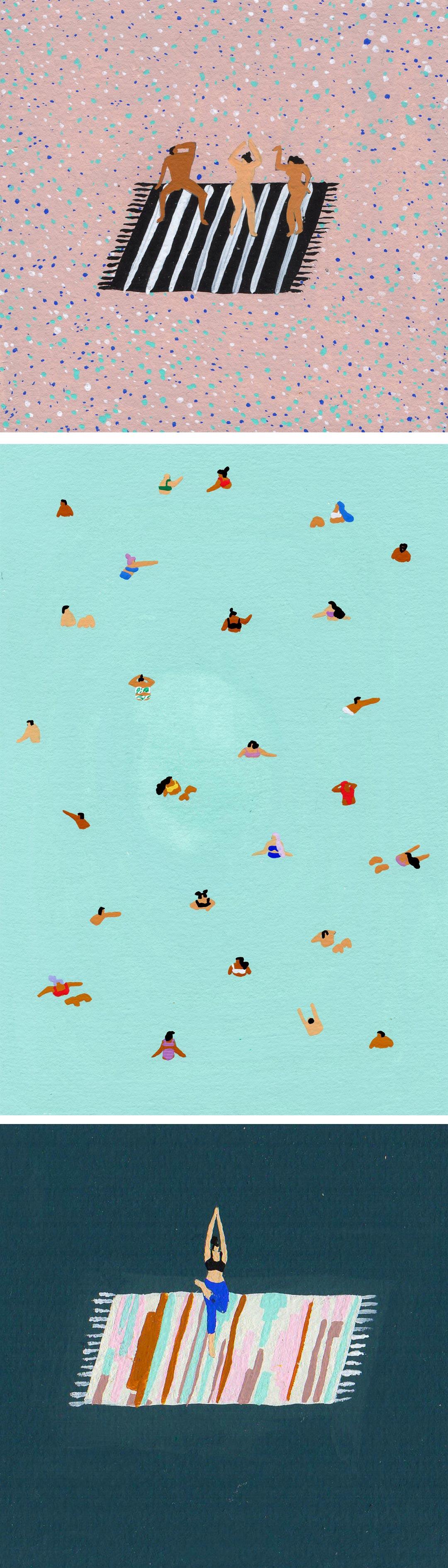 Joanne Ho Swimming Paintings