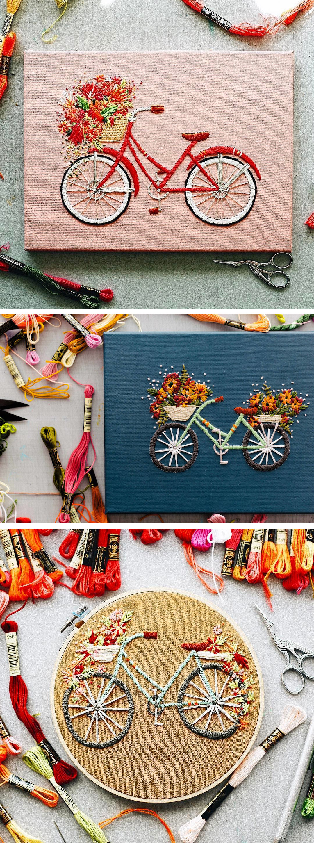 Bicycle Embroidery by TrueFort