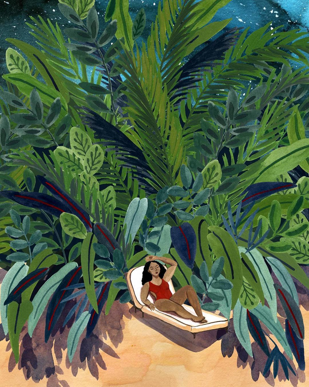 Summer illustrations by Angela McKay