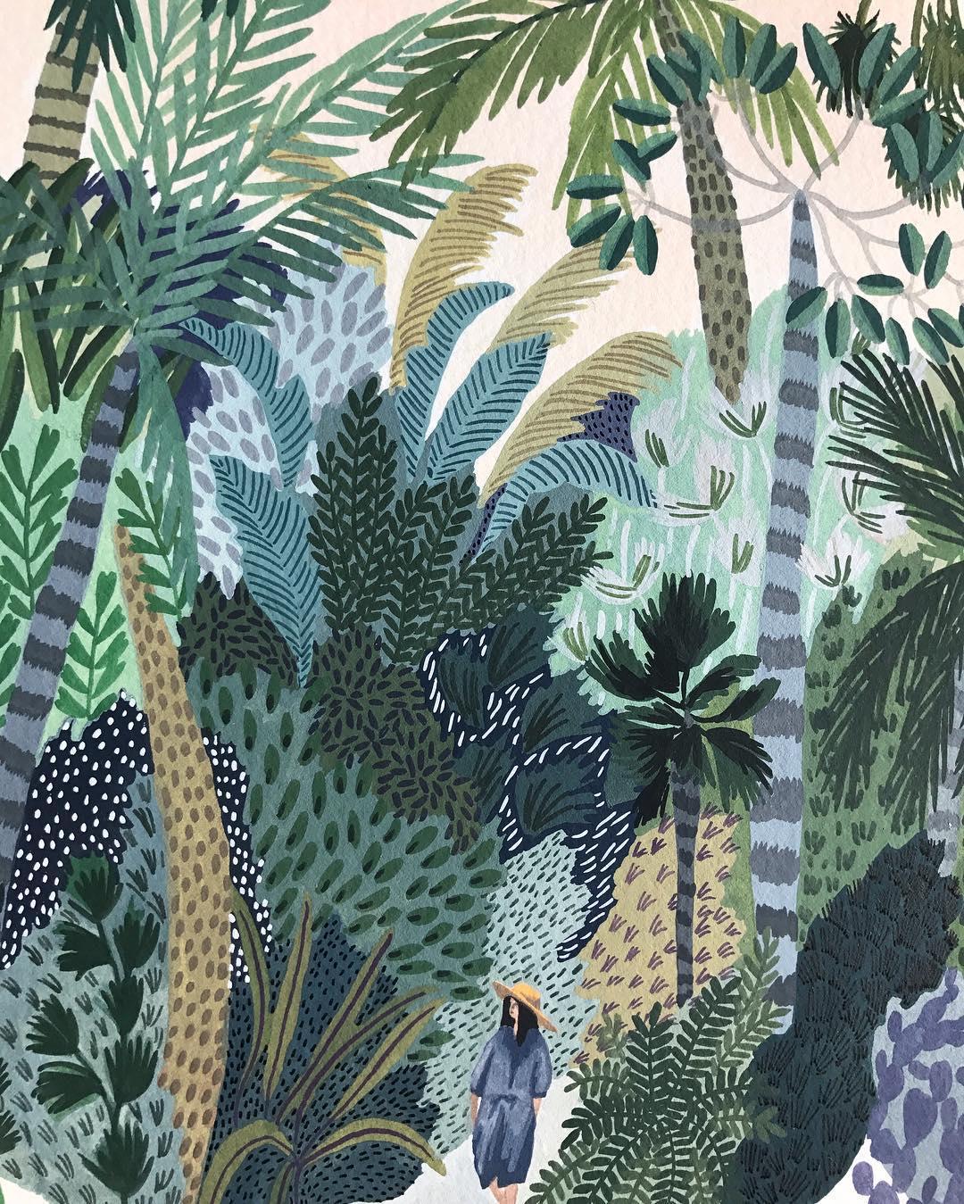 Summer illustrations by Angela McKay