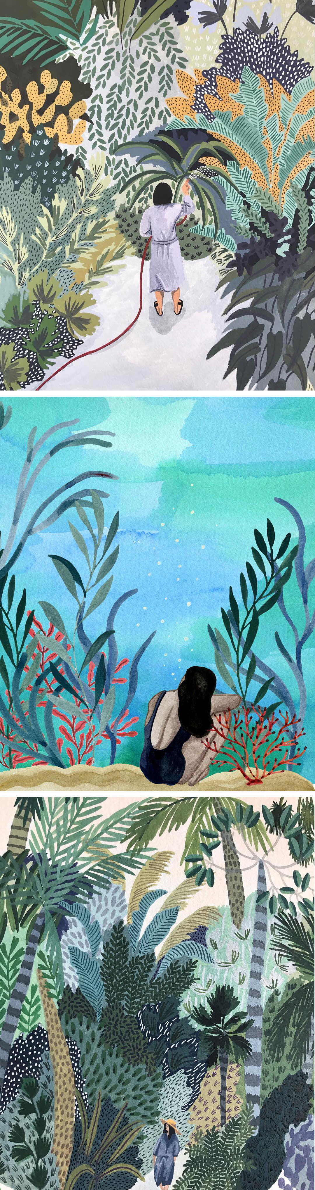 Summer illustration by Angela McKay