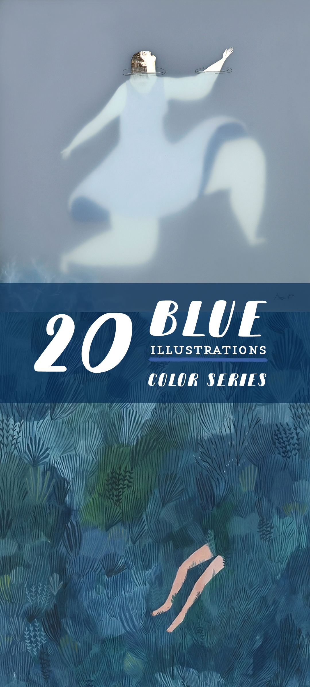 Blue illustrations