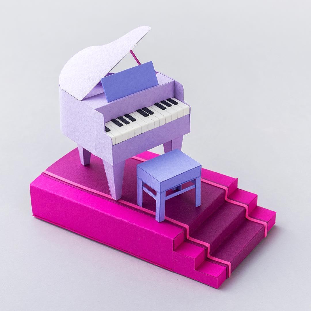 Miniature Cut Paper Art