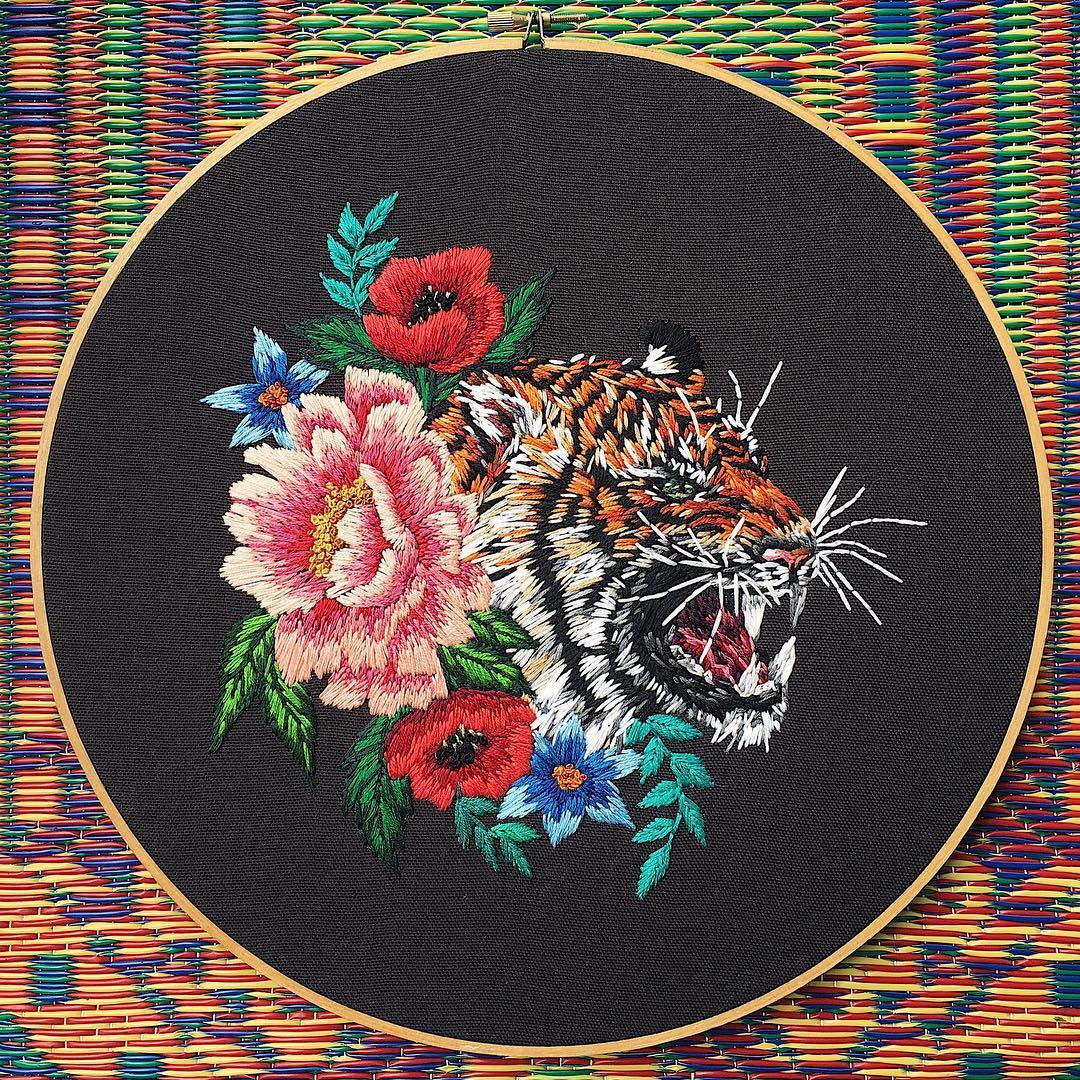 Hoop art by Sam Eldridge