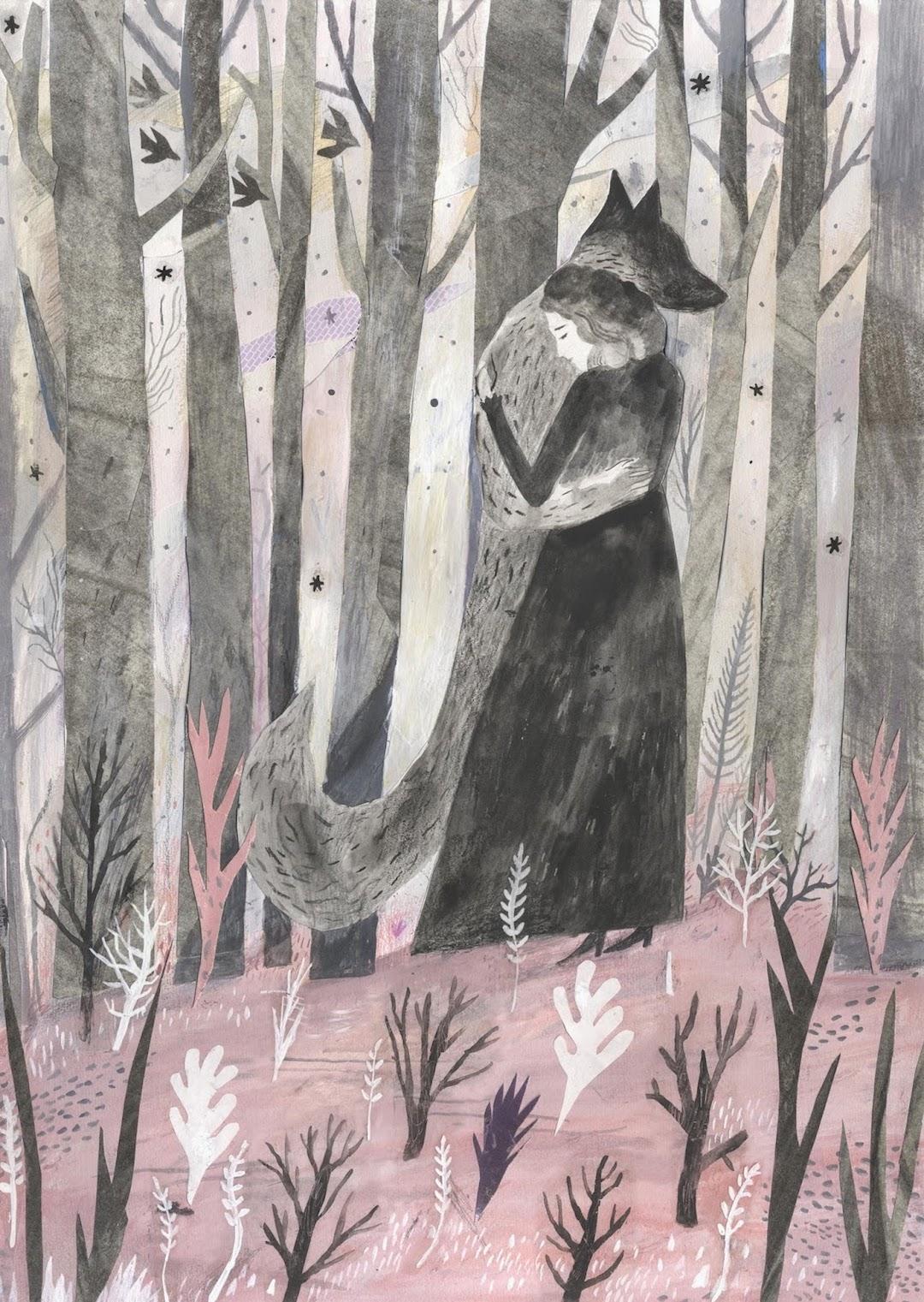 Gray illustration by Chris Hagen