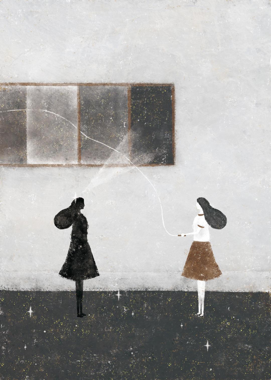 Gray illustration by Akira Kusaka