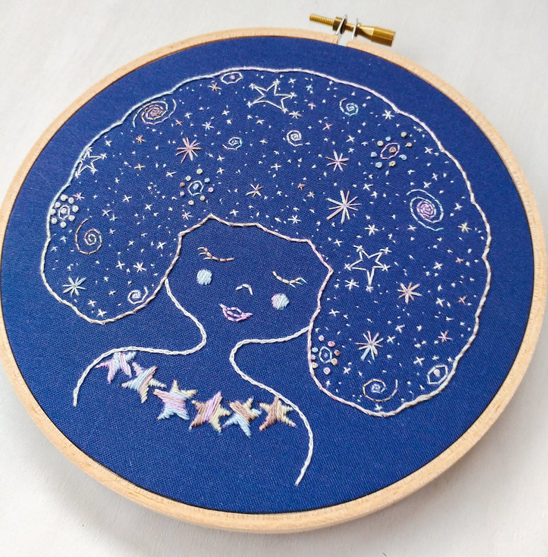 Modern Embroidery Pattern by Cozy Blue