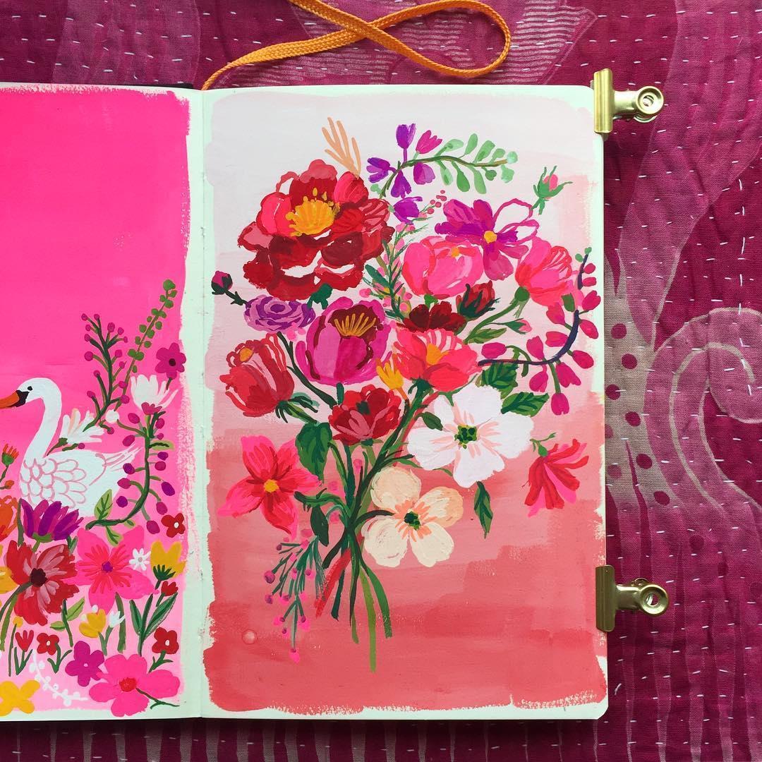 Pink illustration by Carolyn Gavin