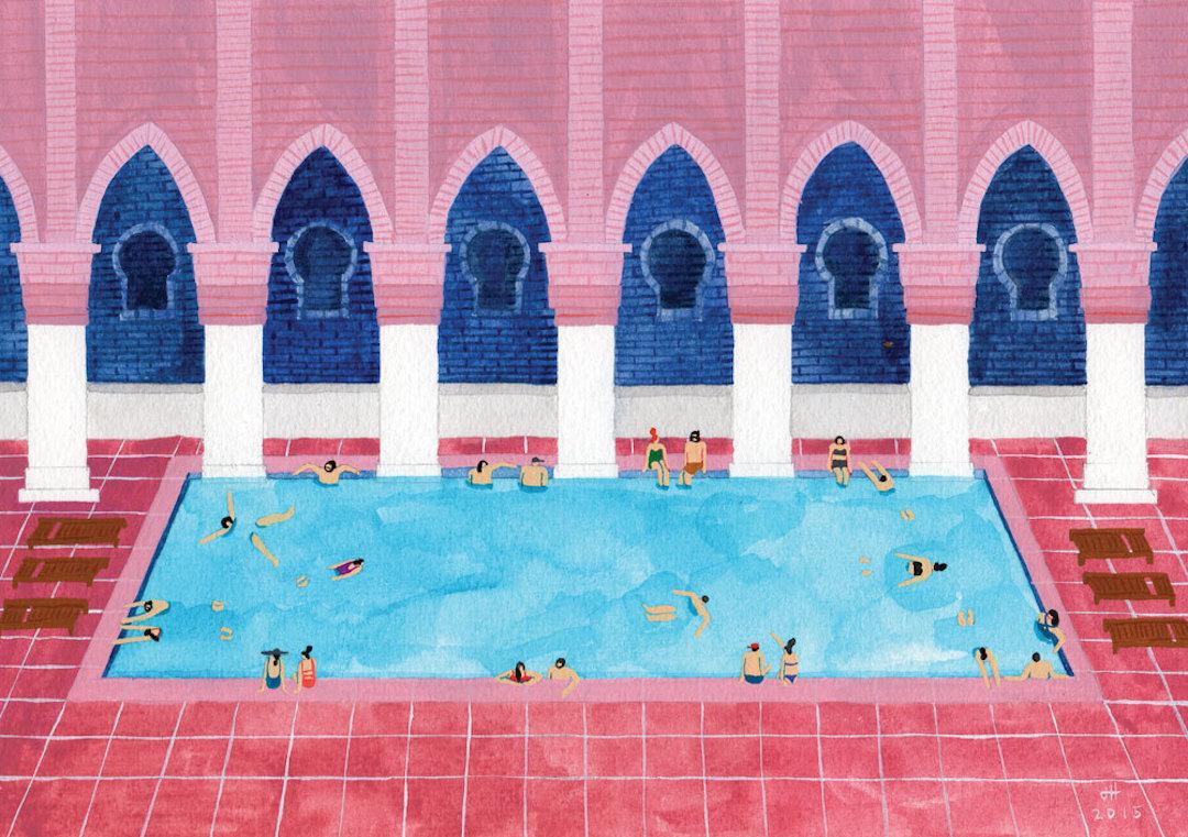 Pink illustration by Joanne Ho