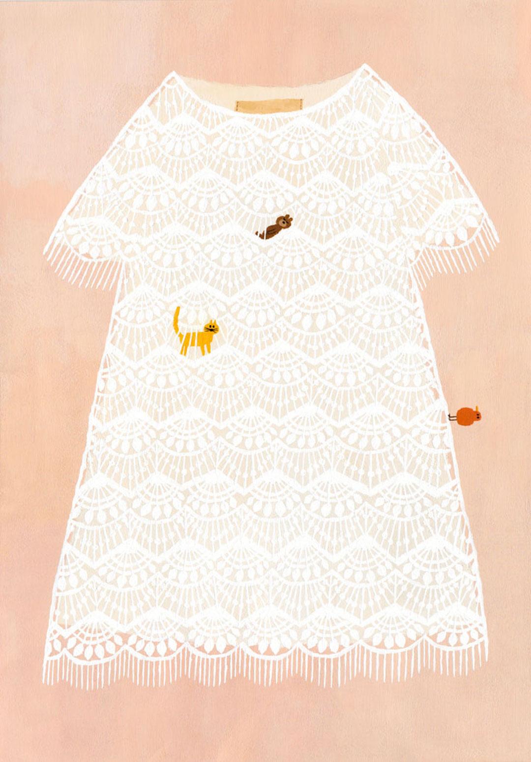 Pink illustration by Kaori Seno