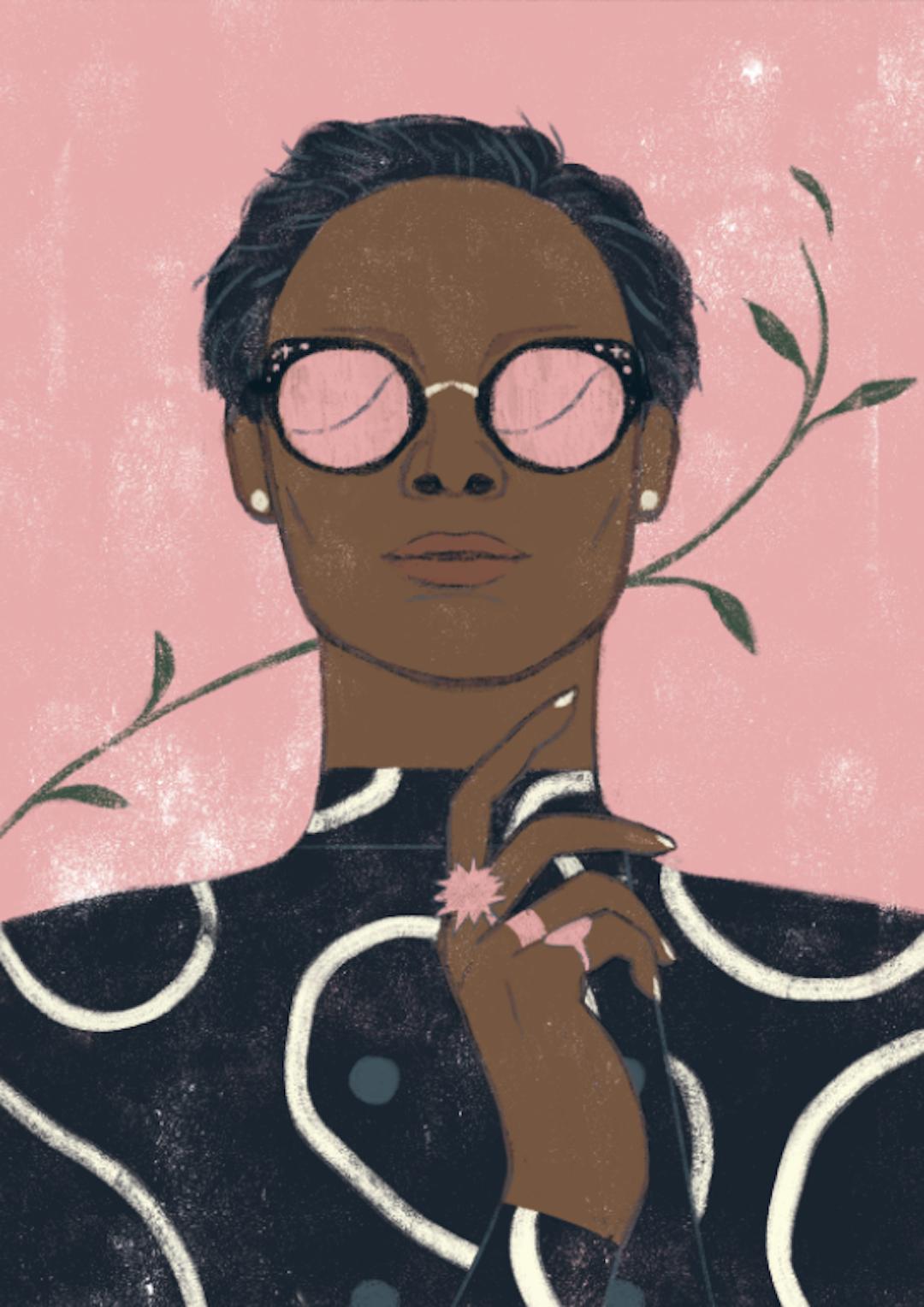 Pink illustration by Sander Berg