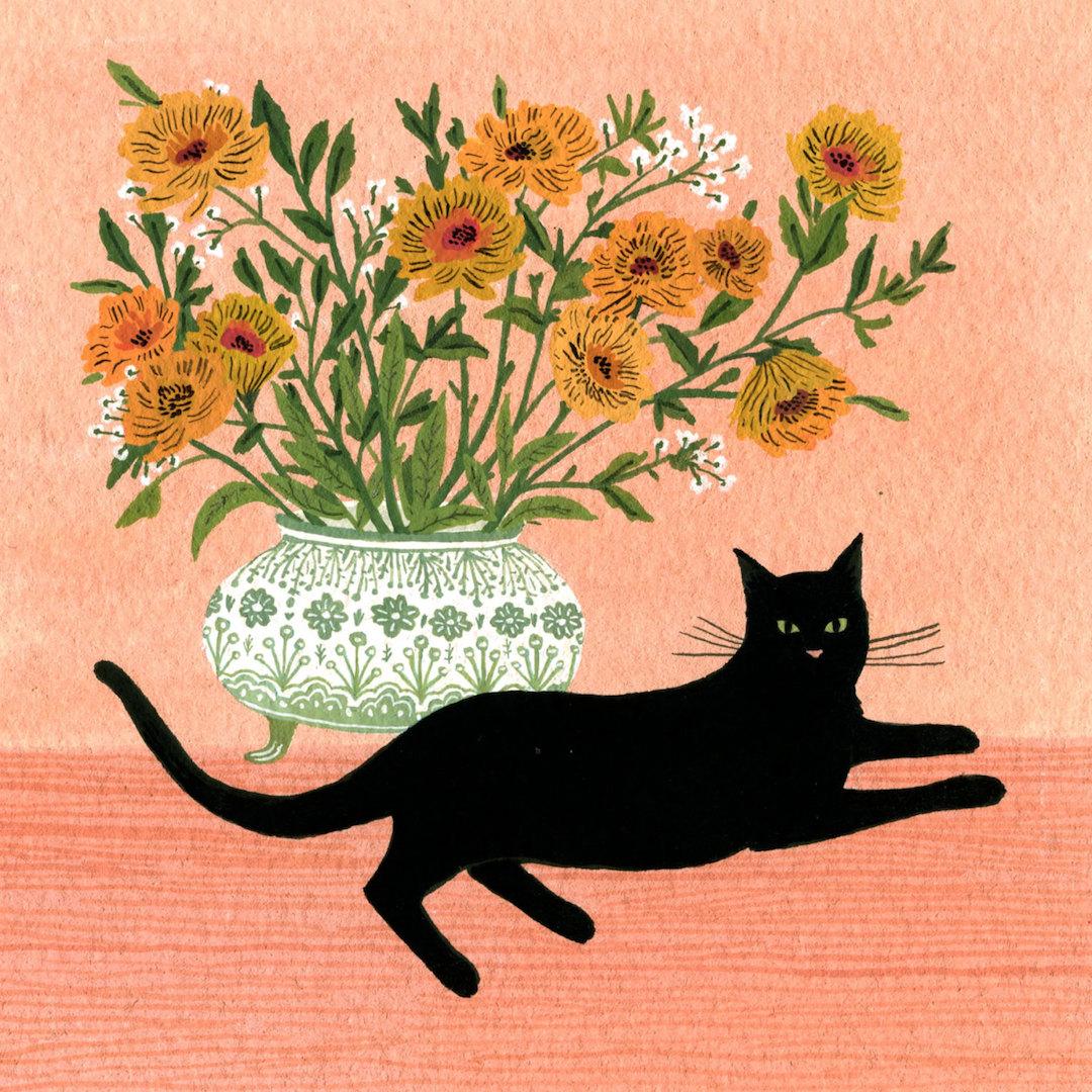 Pink illustration by Becca Stadtlander