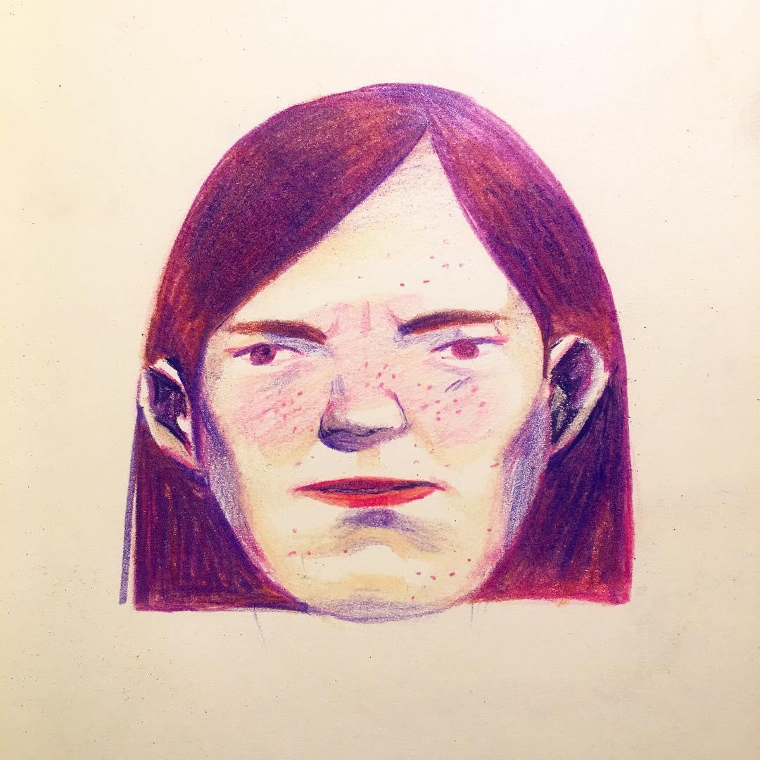 Purple illustration by Lisk Feng