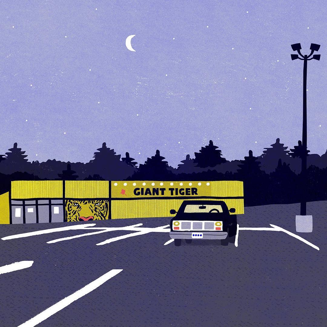 Purple illustration by Sandi Falconer