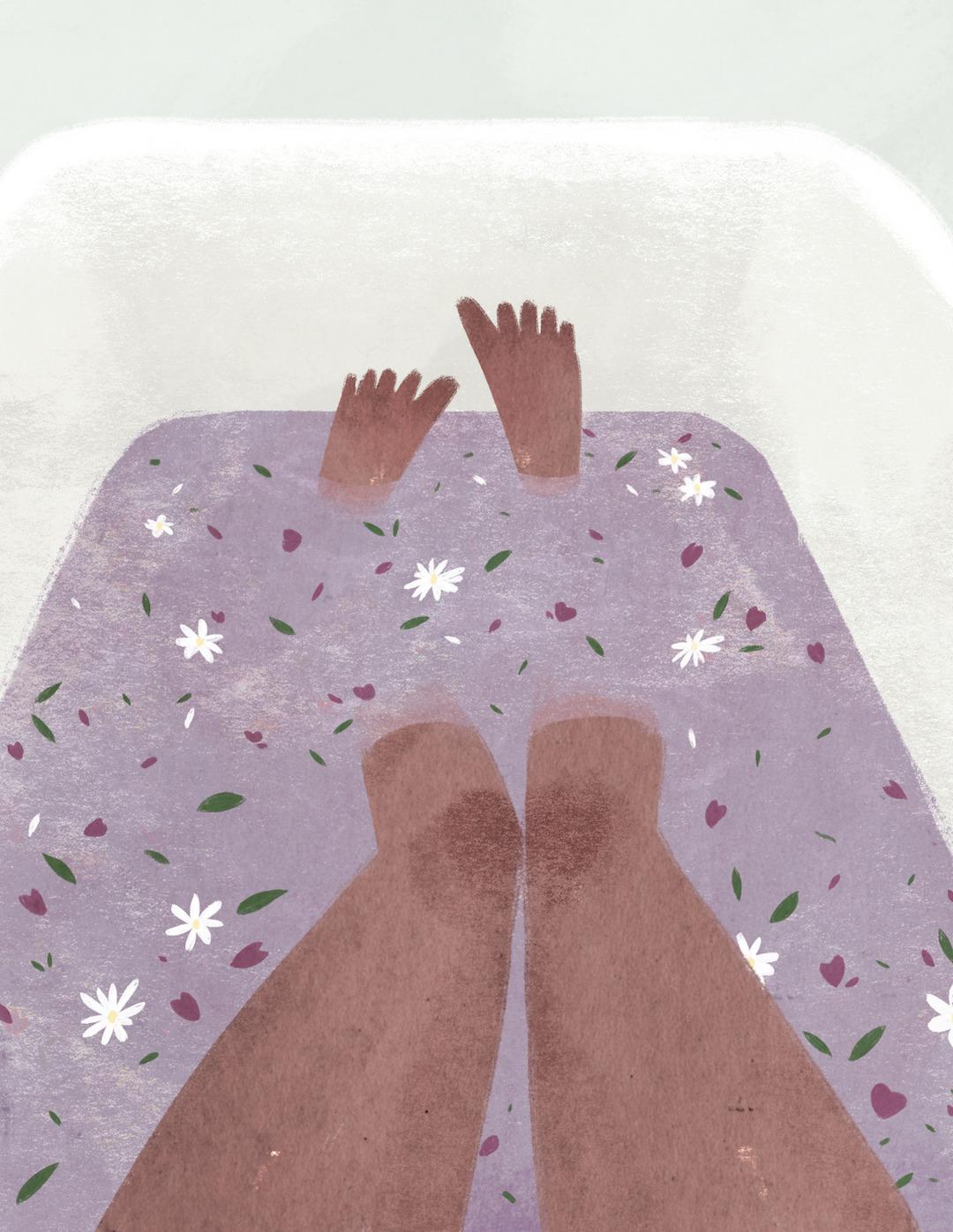 Purple illustration by Taryn Knight