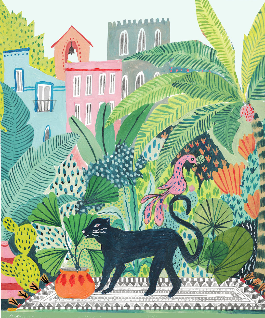 Jungle illustrations by Amber Davenport
