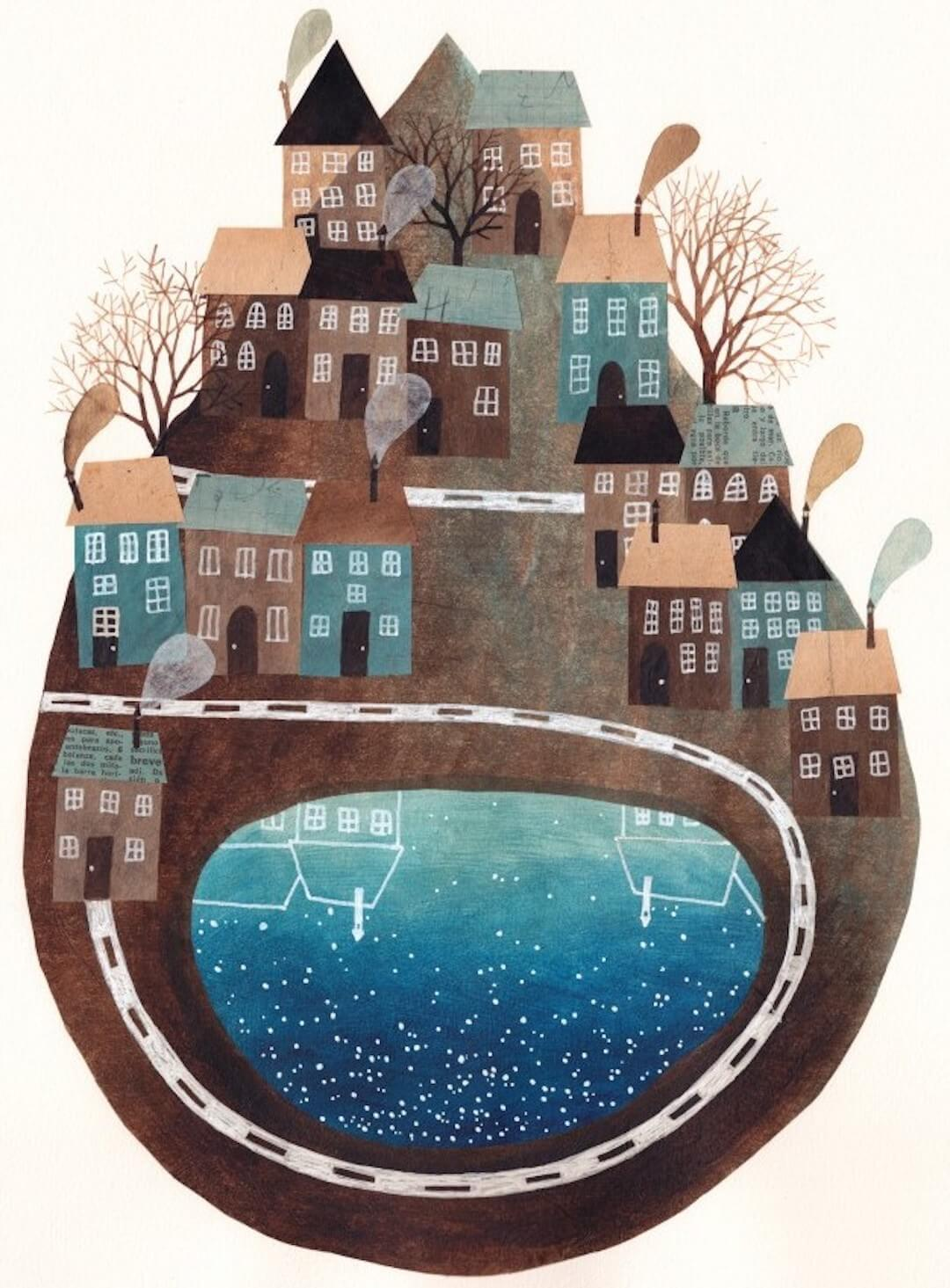 Brown Illustration by Gemma Capdevlila