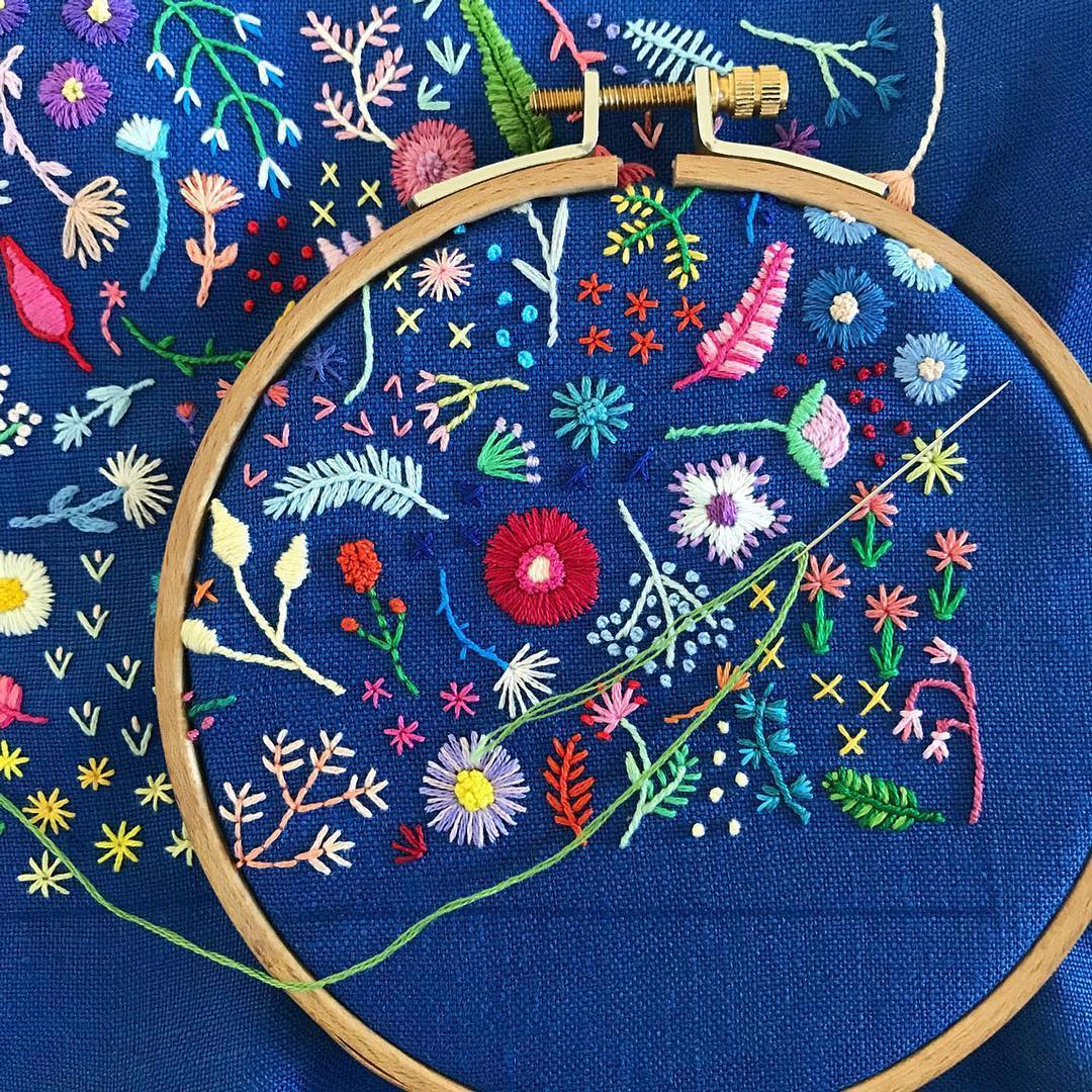 Tiny embroidery by Happy Cactus