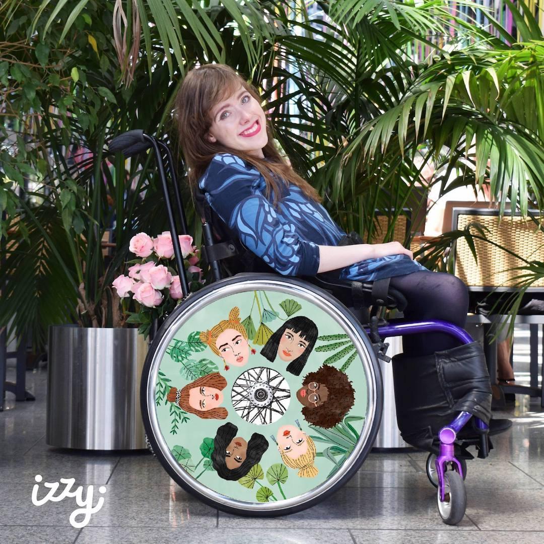 Izzy Wheels stylish wheel covers by Bodil Jane