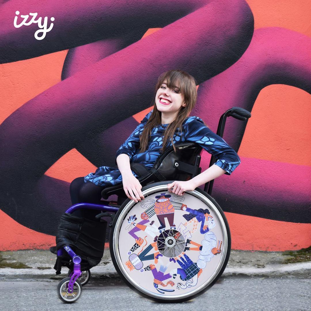 Izzy Wheels stylish wheel covers by Karol Banach