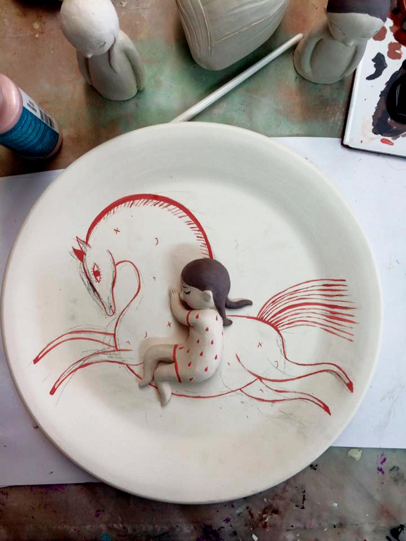 Ceramic sculptures by Lena Guberman