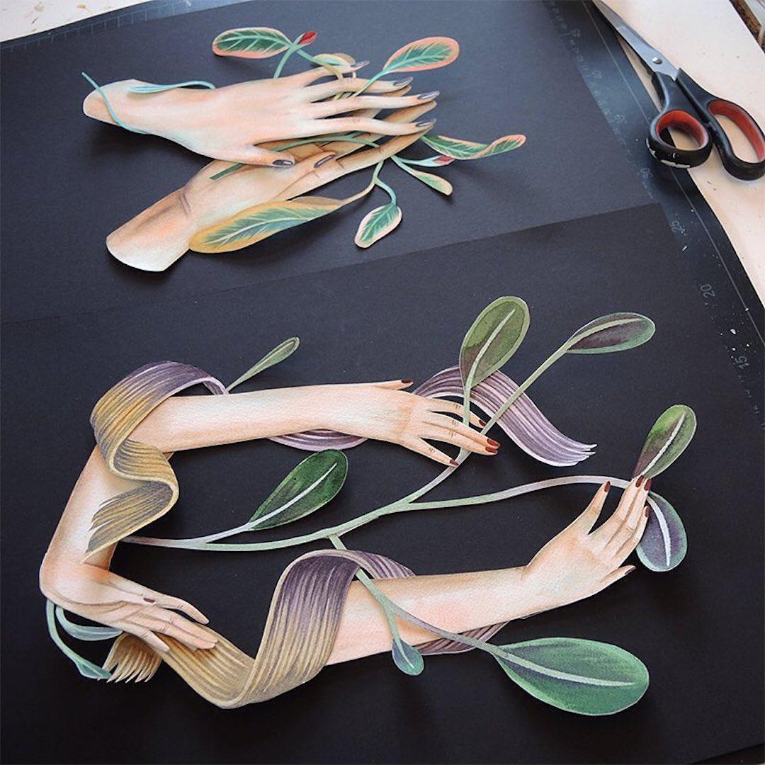 Paper art by Andrea Wan