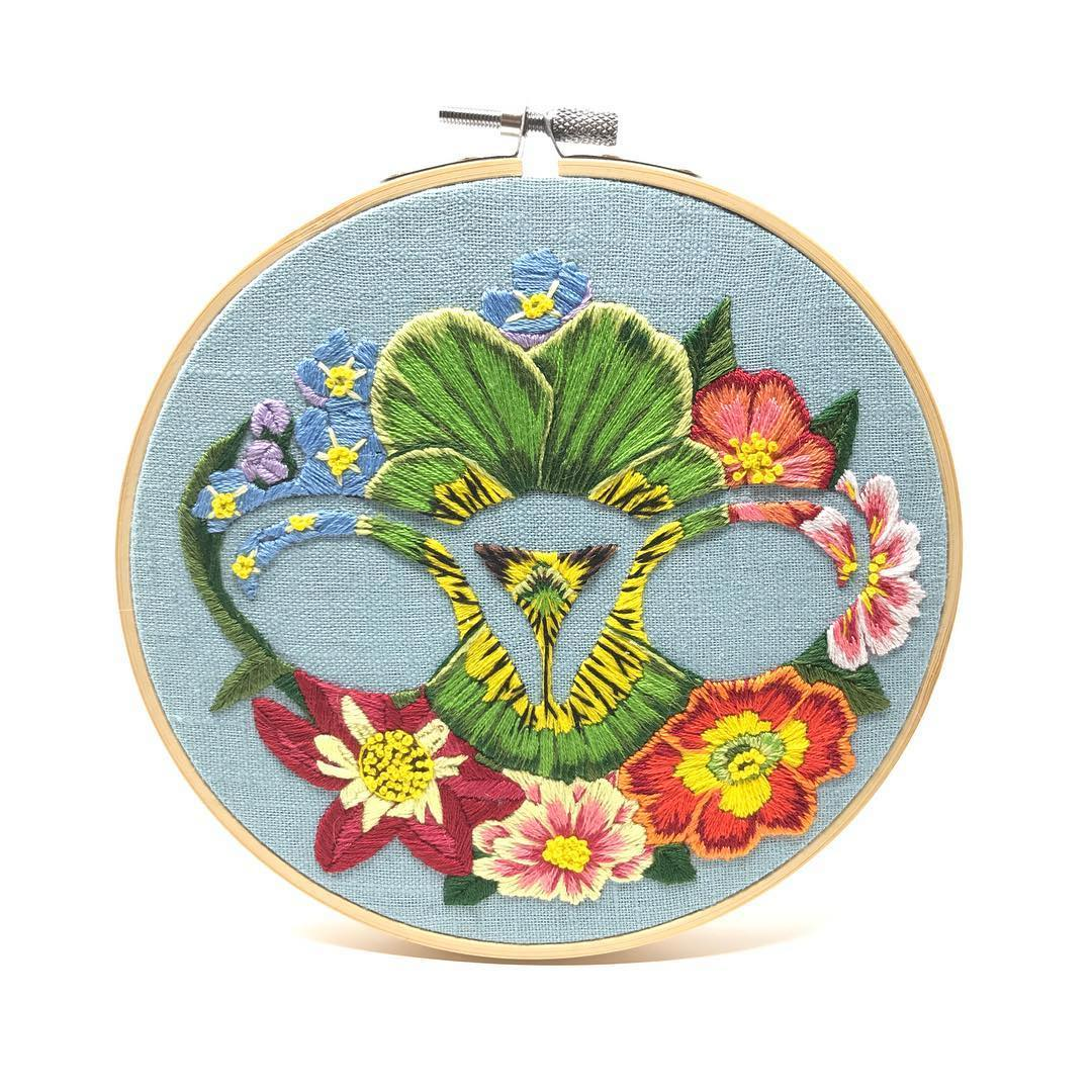 Empowering embroidery by Jess de Wahls