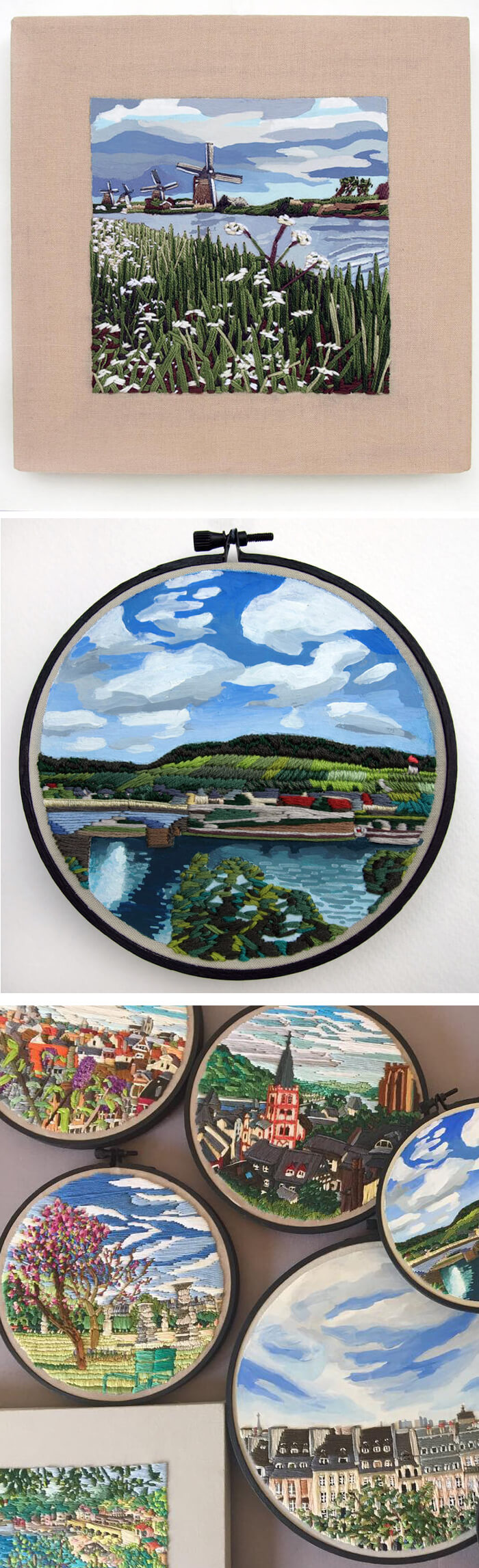 Mixed media embroidery by Libby Williams