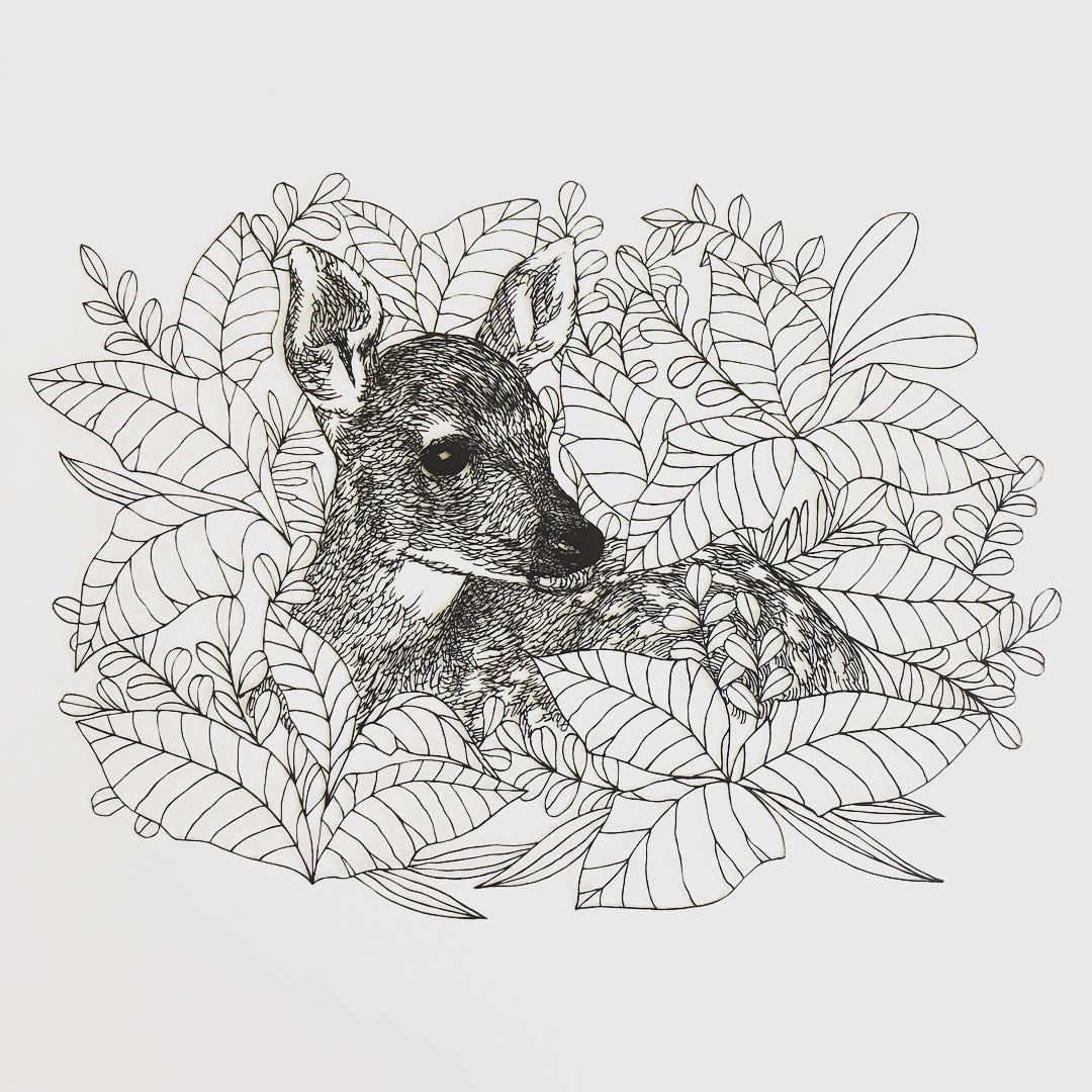 Paper cut outs by Kanako Abe