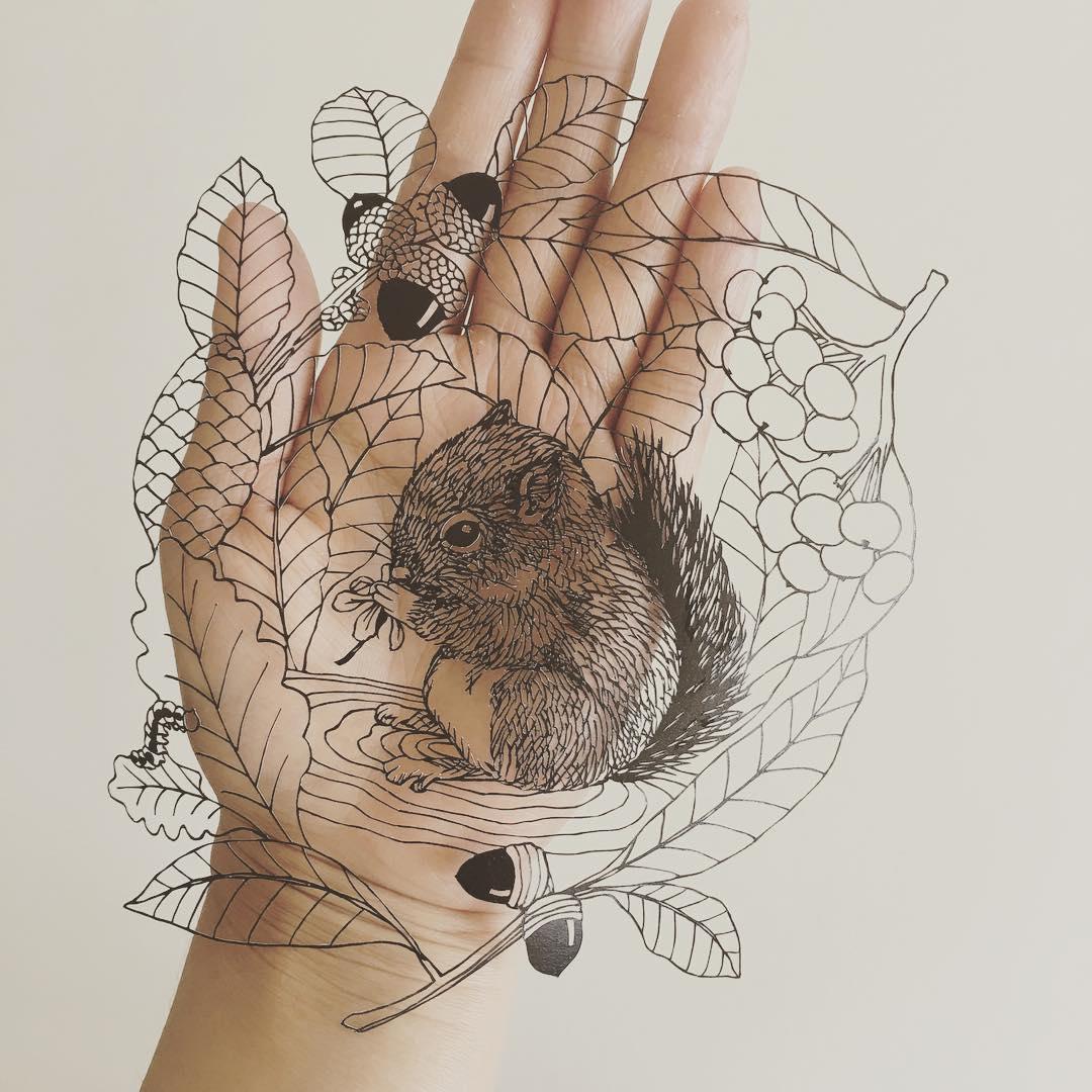 Paper cutouts by Kanako Abe