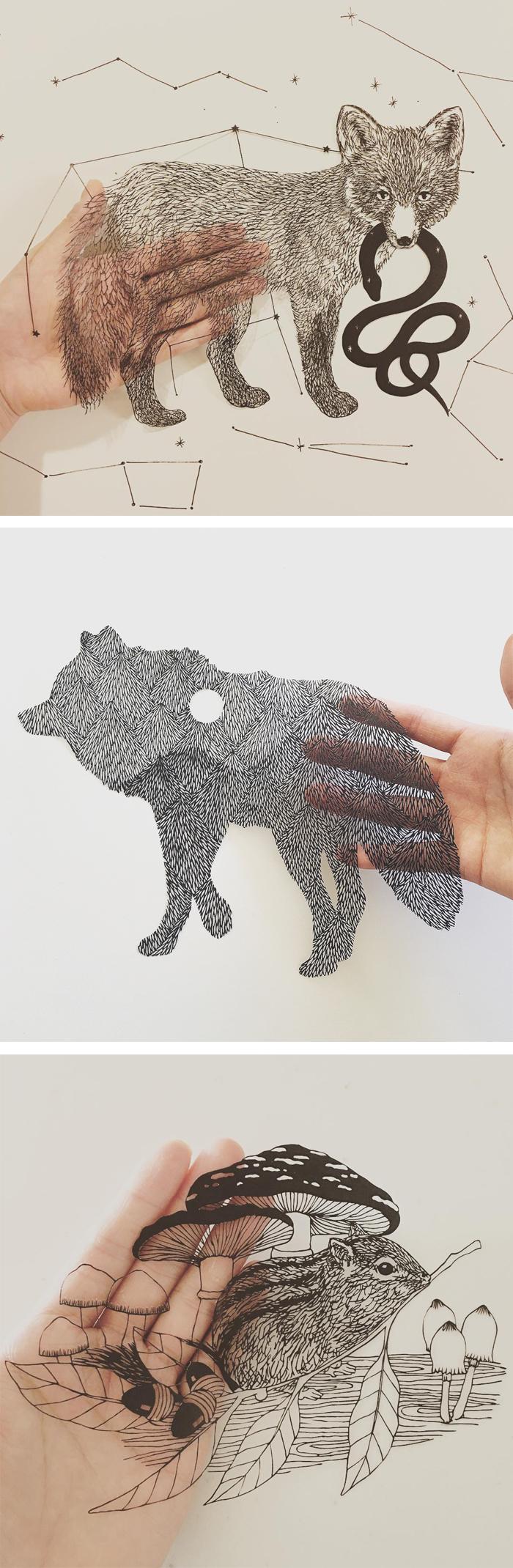 Paper cut outs by Kanako Abe #papercraft #cutouts