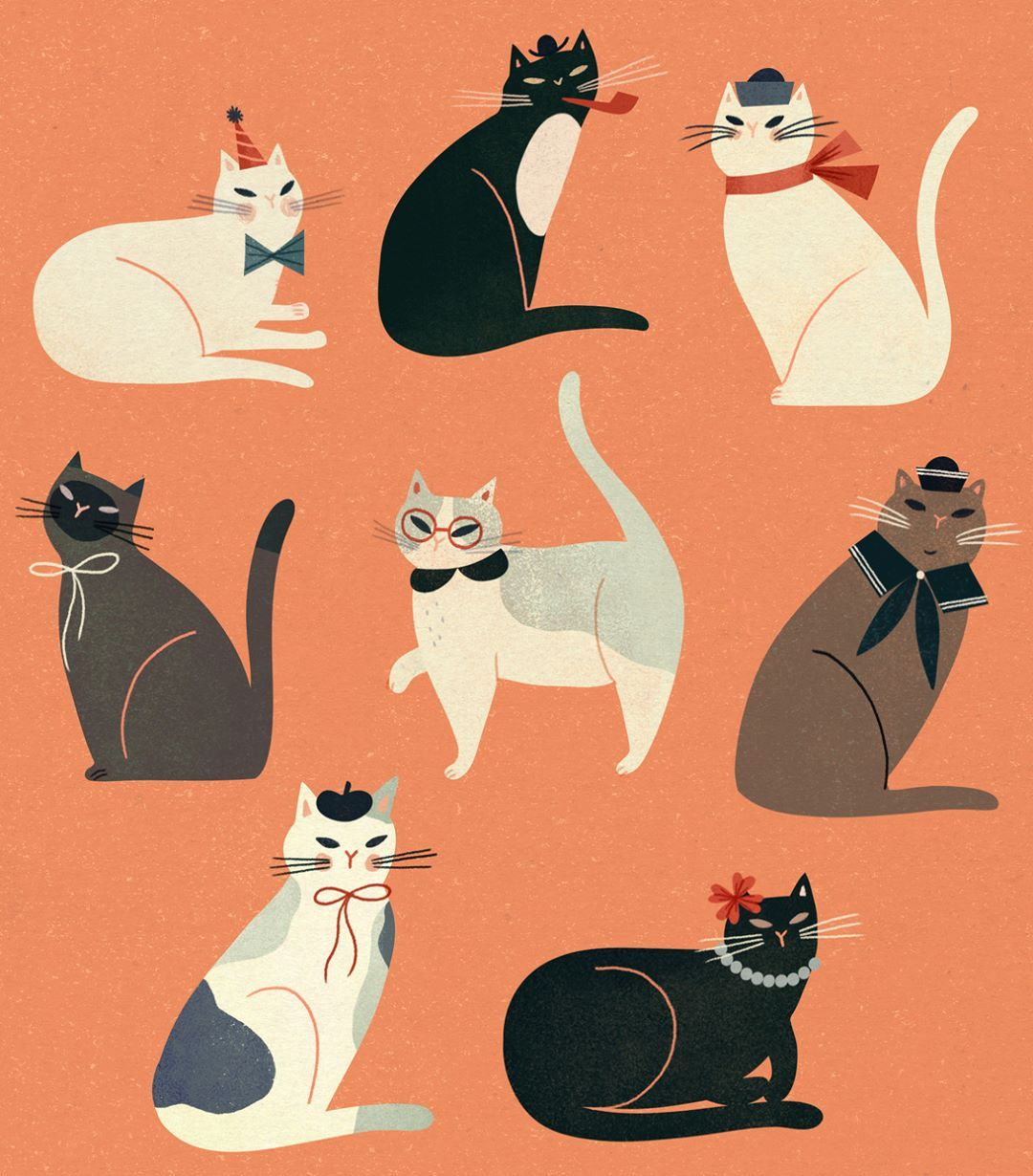 Incredible Fancy Cat Illustrations And More Exquisite Work By Clare Owen Squirreltailoven Fun Painted Chair Ideas Images Squirreltailovenorg