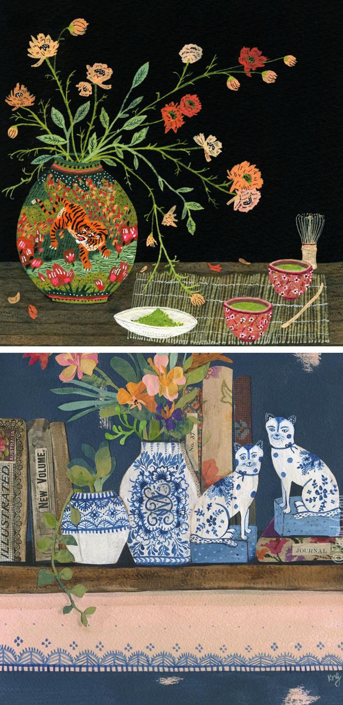 Illustration of vases