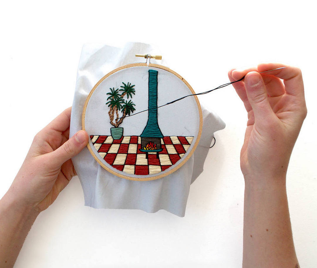 Modern hand embroidery patterns for Galentine's Day