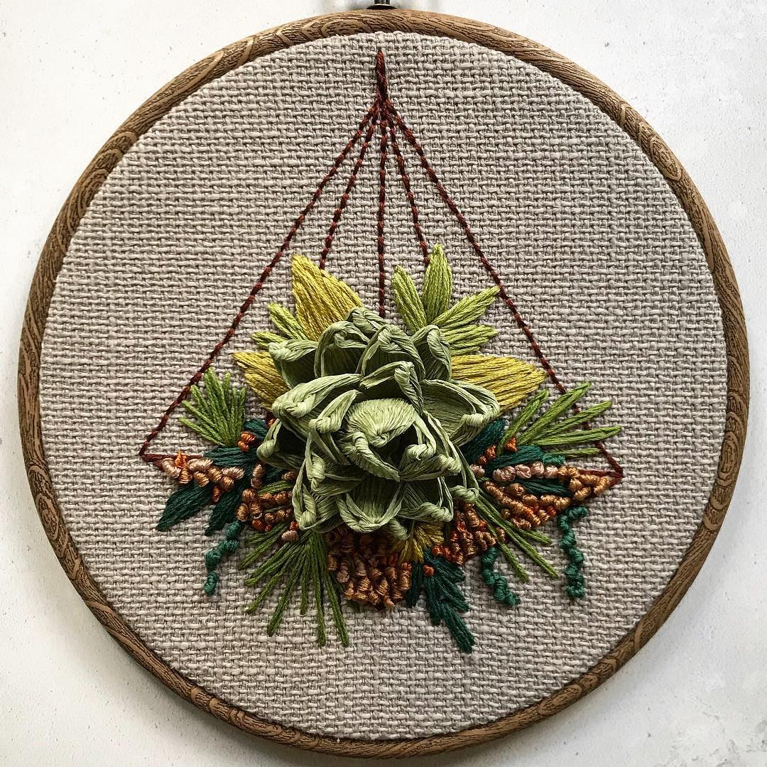 Embroidery art by Helen Wilde