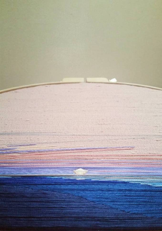 Stephanie Kelly Clarks Exquisite Thread Paintings