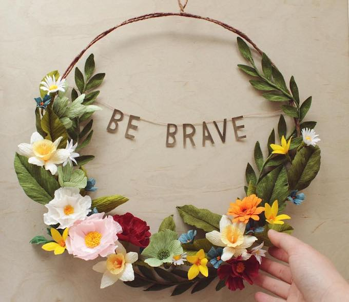 Grace chins paper floral wreaths to dazzle and empower you grace chin empowering floral wreaths mightylinksfo