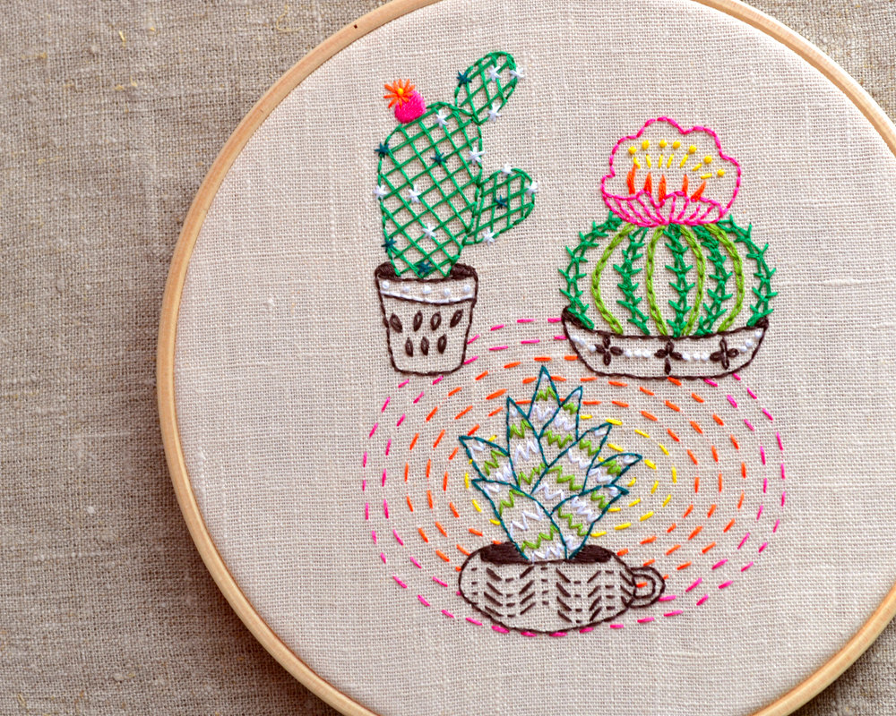 Modern Embroidery Pattern by NaNee