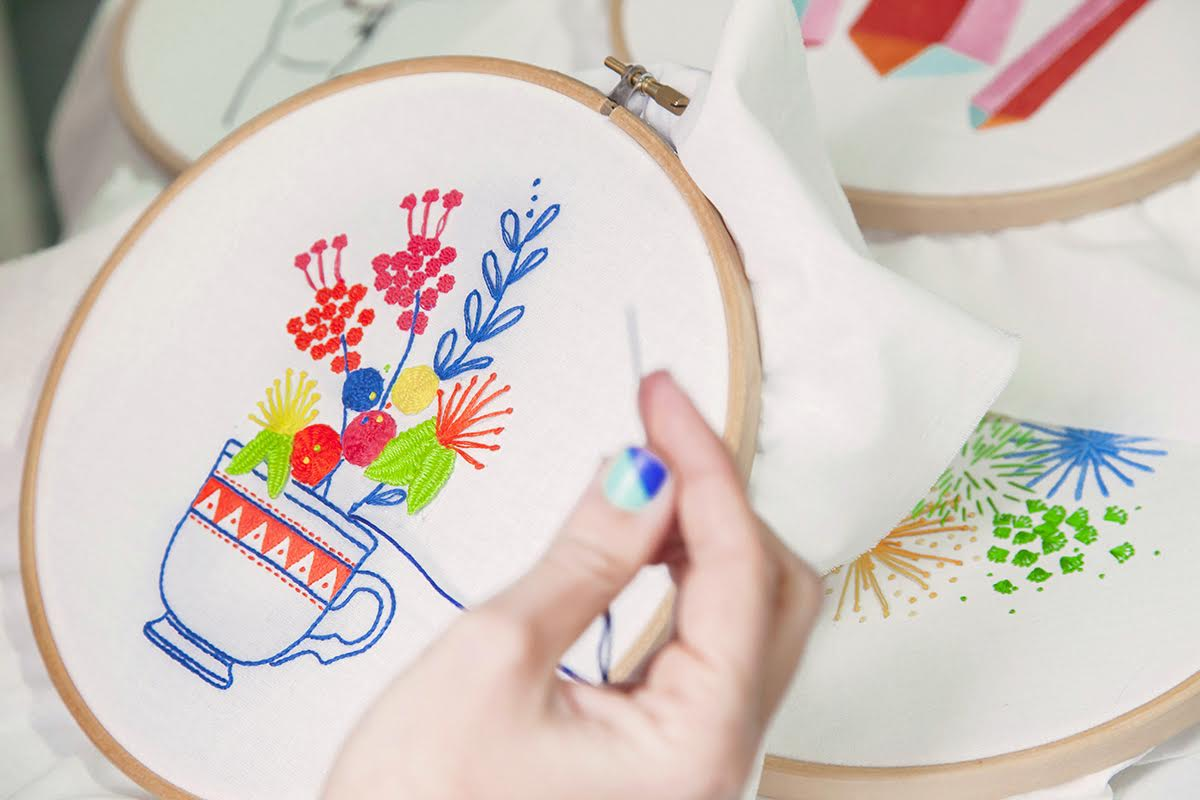 Modern Embroidery Pattern to Download by Srta. Lylo