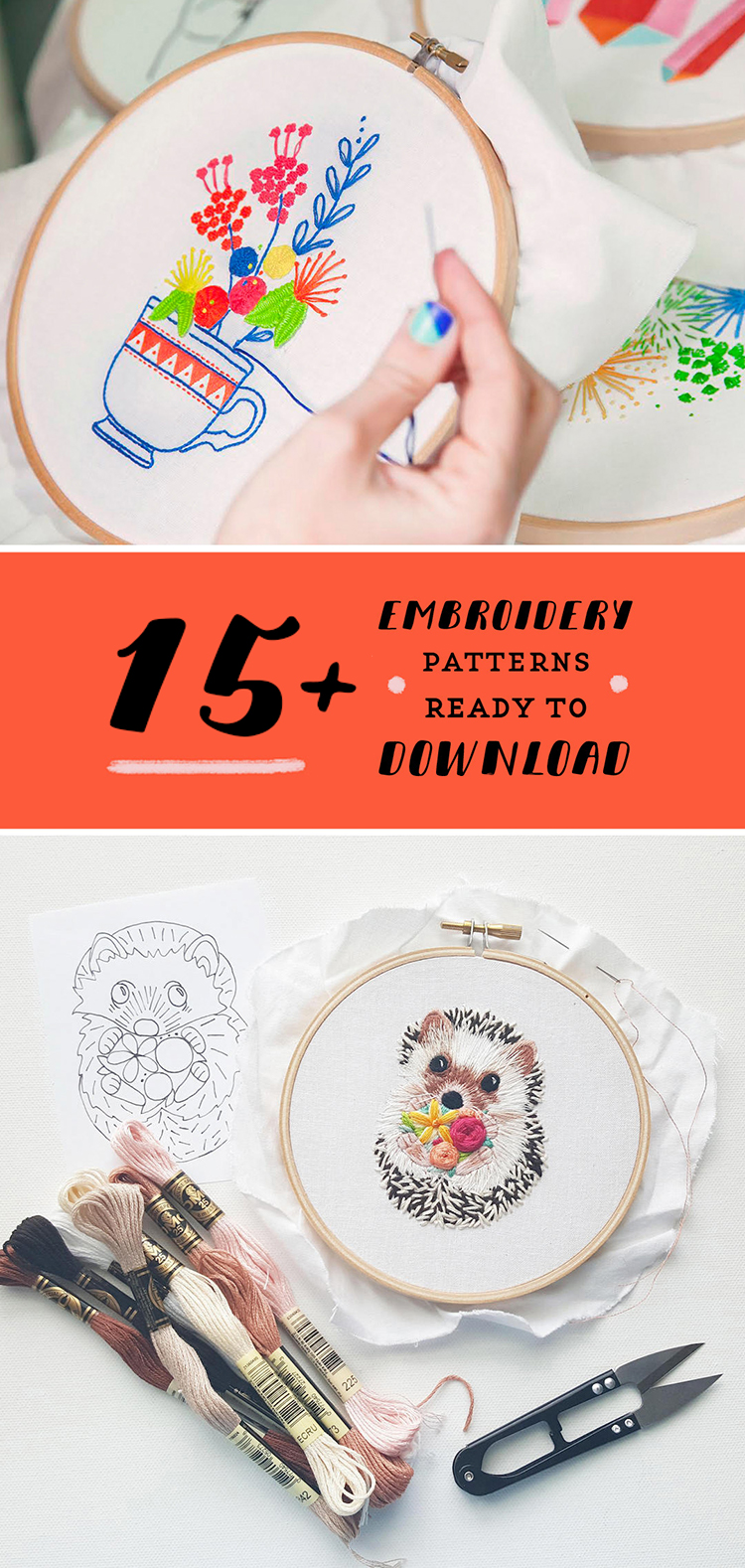 Contemporary hand embroidery patterns
