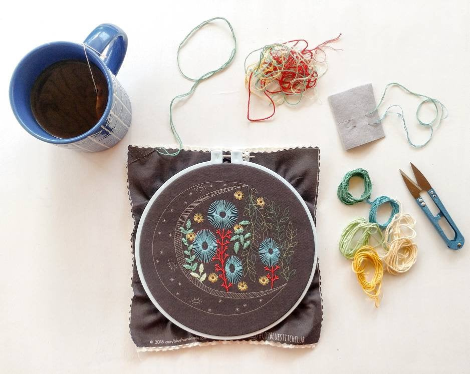 Modern hand embroidery patterns by Emilie Ferris